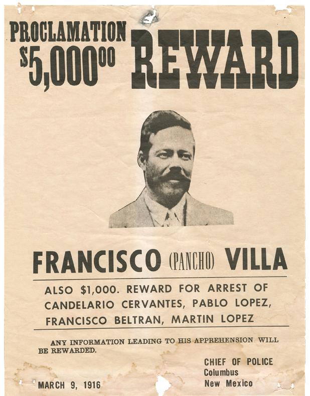 U.S. bounty on Pancho Villa