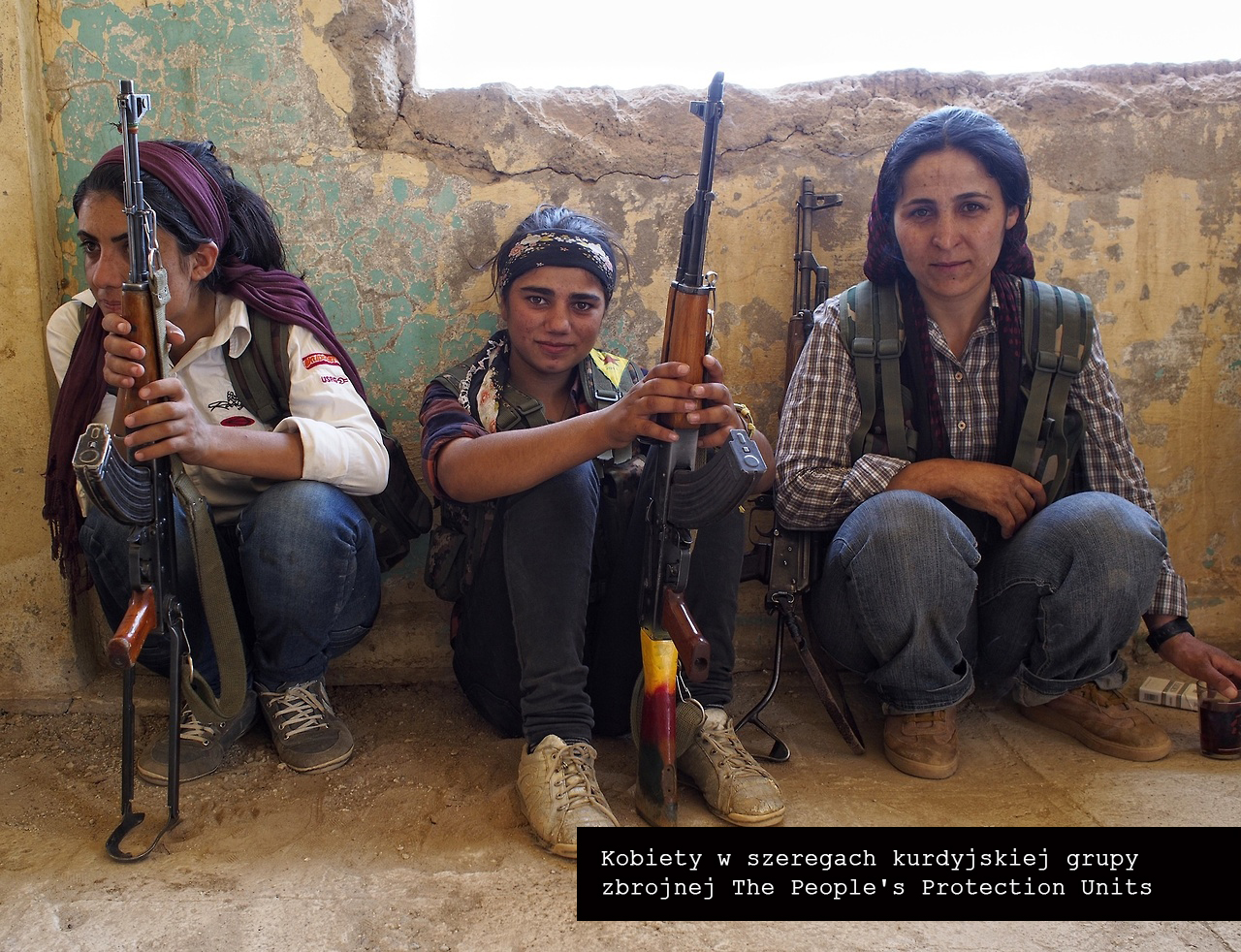 Female members of YPG
